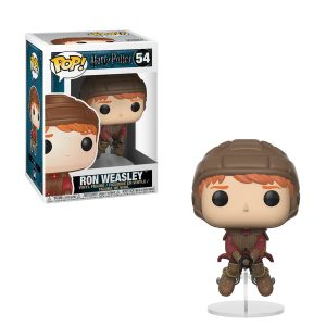 Harry Potter – Funko Pop Ron Weasley en tenue de Quidditch sur son balai #54