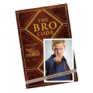 Livre The Bro Code – Barney Stinson – How I Met Your Mother (Anglais)